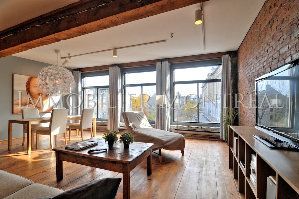 Loft d youville location appartements meubl s montreal for Meuble vieux montreal
