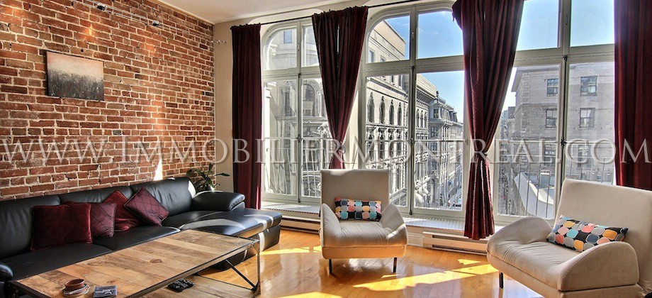 Old montreal loft location appartements meubl s for Meuble bricks montreal
