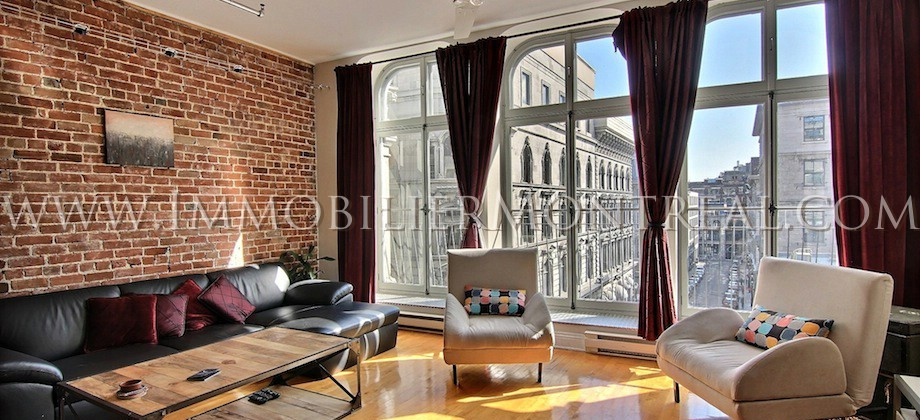 Condo-Loft-Old-Montreal-Old-Port-395-Notre-Dame-Ouest-For-Rent-A-Louer-11