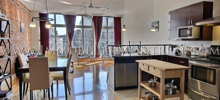 Condo-Loft-Old-Montreal-Old-Port-395-Notre-Dame-Ouest-For-Rent-A-Louer-2