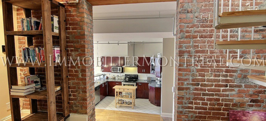 Condo-Loft-Old-Montreal-Old-Port-395-Notre-Dame-Ouest-For-Rent-A-Louer-8